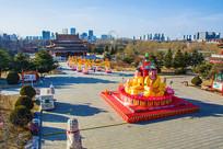 玉佛寺三洲感应殿四面佛俯视图