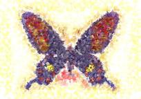 蝴蝶抽象油画欧美抽象油画