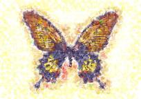 蝴蝶高清油画画芯