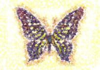 蝴蝶女装数码印花花型