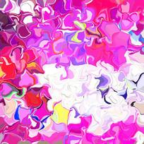 丝巾花型数码印花