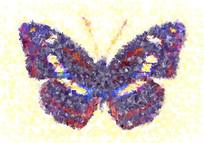 印花花型蝴蝶
