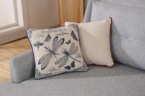 美丽的亚麻长沙发抱枕