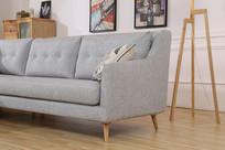 美丽的亚麻长沙发扶手