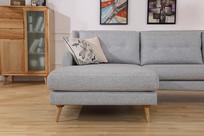 美丽的亚麻长沙发躺椅