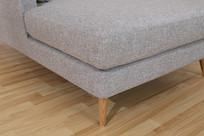美丽的亚麻长沙发躺椅垫子