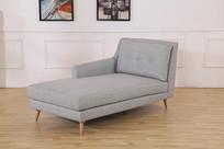 美丽的亚麻沙发靠椅斜面
