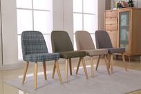 美丽的中性色简约风格布艺椅子