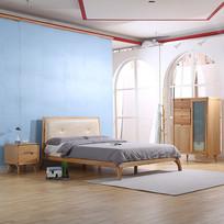 美丽的实木大床