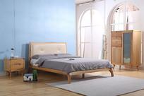 美丽的实木架床