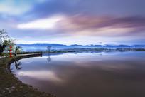 湖泊远山江南水乡