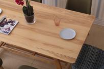 美丽的餐桌特写