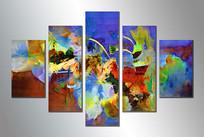 五拼抽象画