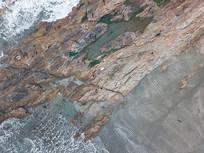 航拍海岛礁石