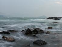 汹涌澎湃的大海