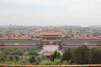 俯视故宫全景