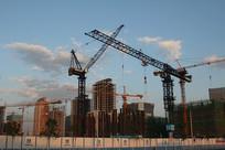 丽泽商务区工地建筑塔吊