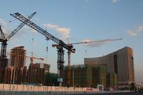 在建的丽泽商务区工地