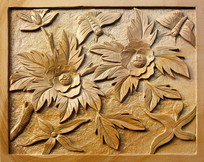 花草浮雕装饰画