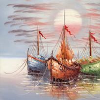 风景油画地中海