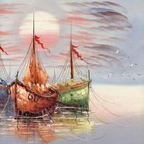 欧美装饰油画码头