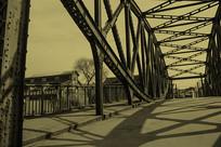 怀旧老上海外白渡桥