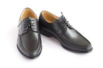 商务男鞋白底图片