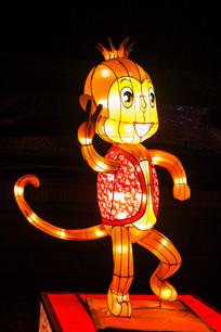 十二生肖申猴灯展造形侧面夜景