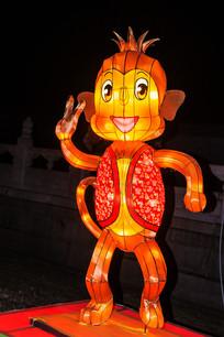 十二生肖申猴灯展造形正面夜景