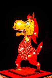十二生肖午马灯展造形左侧夜景