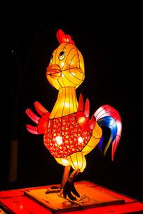 十二生肖酉鸡灯展造形左侧夜景