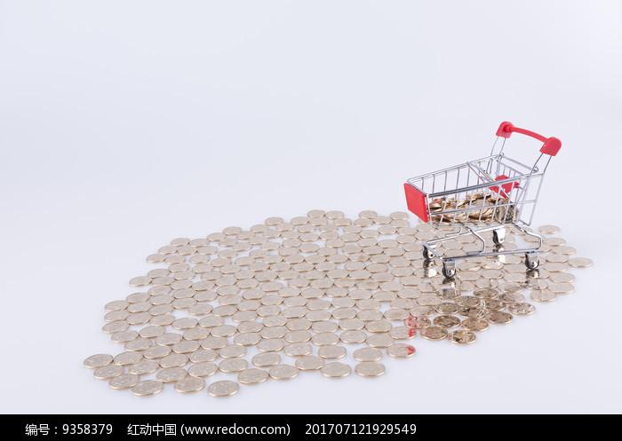金币和购物车图片