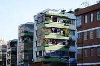 番禺市区街景老式住宅楼