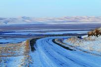 山地雪原-雪野公路