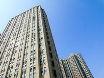 城市高楼大厦仰视摄影素材