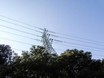 电力电塔工业电网高清摄影图