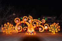玉佛寺挂灯树干灯展夜景