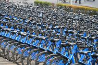 整齐的小蓝单车