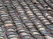 屋顶青砖瓦片