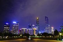 广州珠江新城灯光夜景