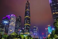 广州珠江新城绚丽灯光之夜