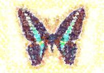 蝴蝶面料数码印花