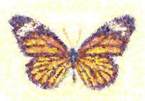 蝴蝶形状数码印花