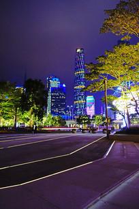 珠江新城现代化高楼大厦灯饰