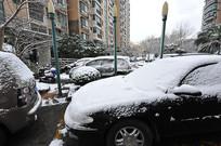 小区大雪封车