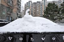 雪天玩雪人