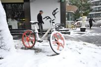 雪中共享单车