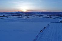 冬季雪原风光(航拍)