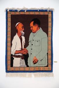 毛主席和库尔班