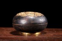 清代铜鎏金香盒